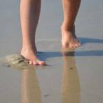 Sand fühlen, Henne Strand, Dänemark