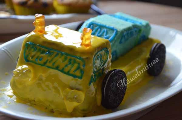 Abschleppwagen-Kuchen