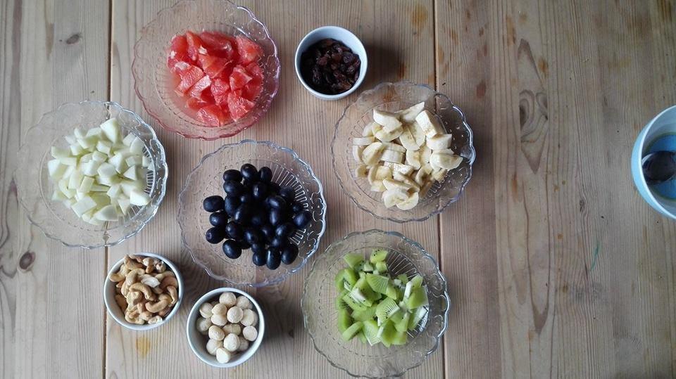 Müsli Obst Nüsse