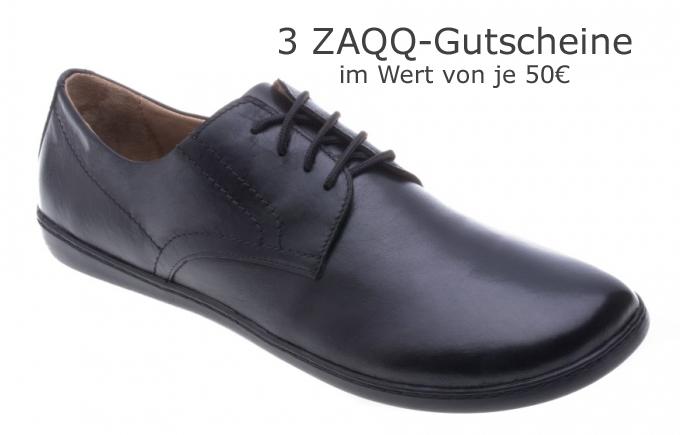 ZAQQ Barfußschuh Gutschein Gewinnspiel